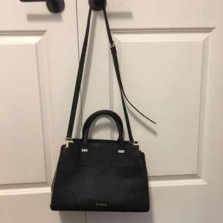 Rebecca Minkoff black gold detailing handbag