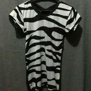 Zebra-printed Top