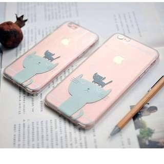 [特價] 可愛 兩隻小貓 蘋果手機殼 IPhone6保護套
