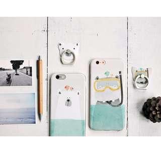 [特價] 可愛 河馬北極熊 蘋果手機殼 IPhone6保護套