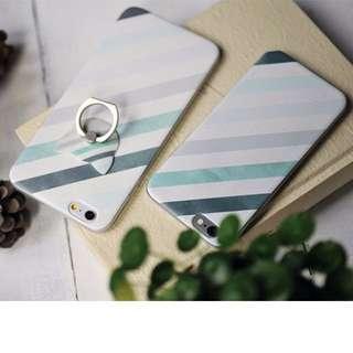 [特價] 文青必備 水墨條紋蘋果手機殼 IPhone6保護套