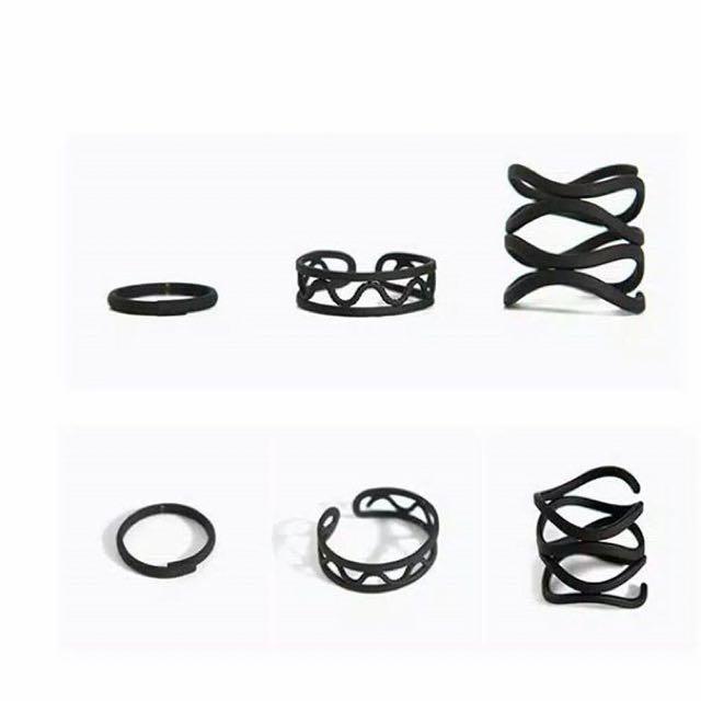 3 Set Black Ring