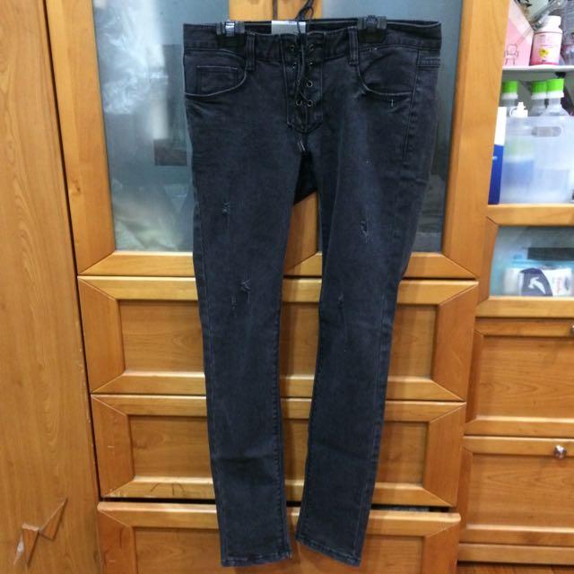 全新✨韓國復古刷舊牛仔褲