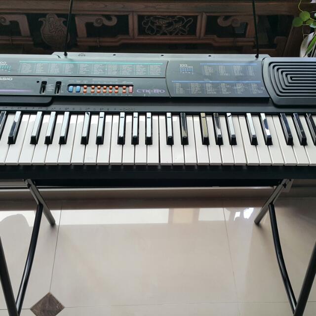 卡西歐 CASIO CTK-80 電子琴 49鍵(含琴架)