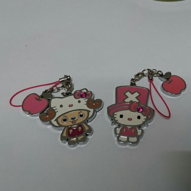 海賊王喬巴 Hello Kitty 聯名 手機鏈