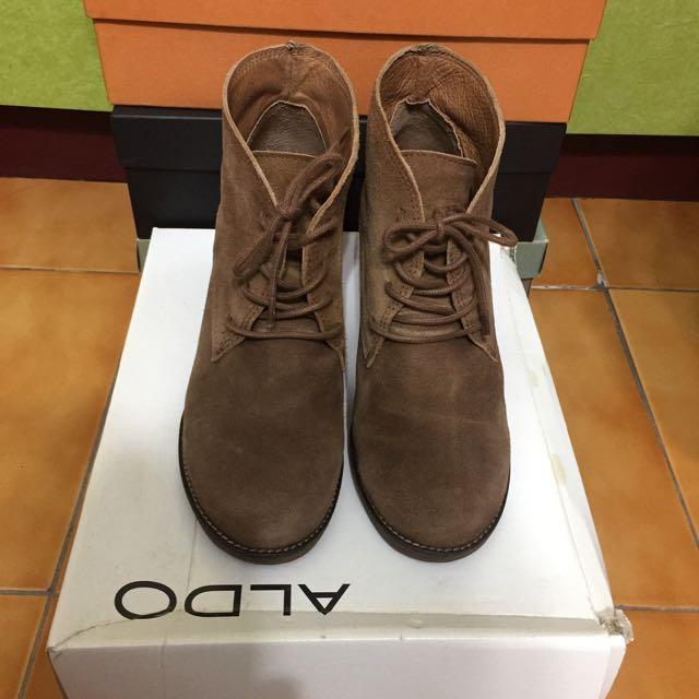 《ALDO 原價4300》英倫風復古麂皮短靴/踝靴