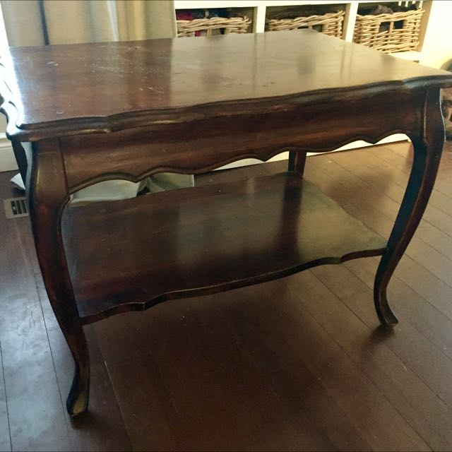 Antique Queen Anne Style Side Table