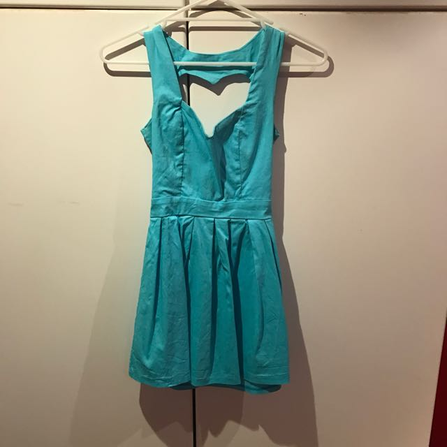 Aqua Cut Out Dress Sz 8