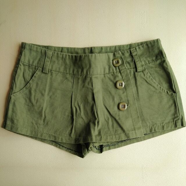 Army Green Skort