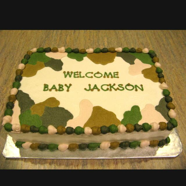 Army Theme Cake Food Drinks Baked Goods On Carousell