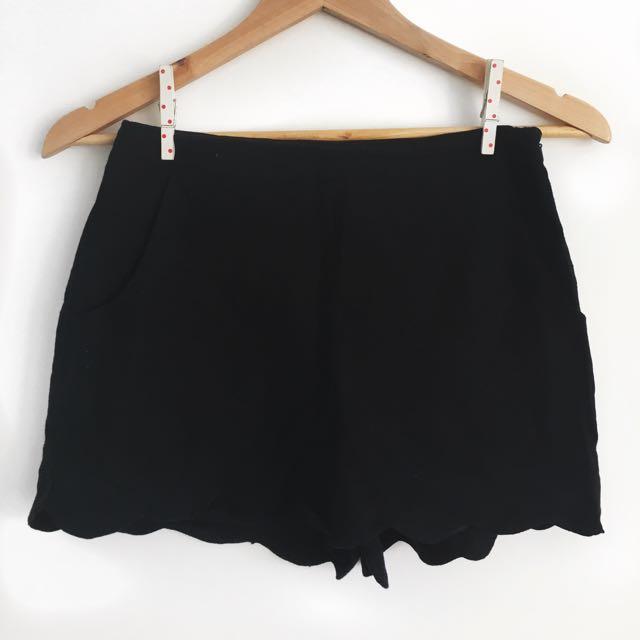 ASOS Linen Scallop Hem Shorts
