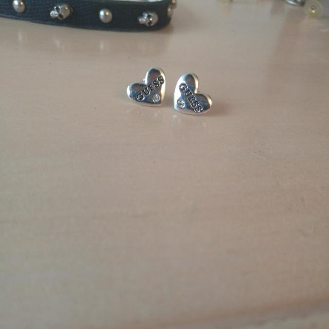 Authentic Heart Shaped Guess Earrings