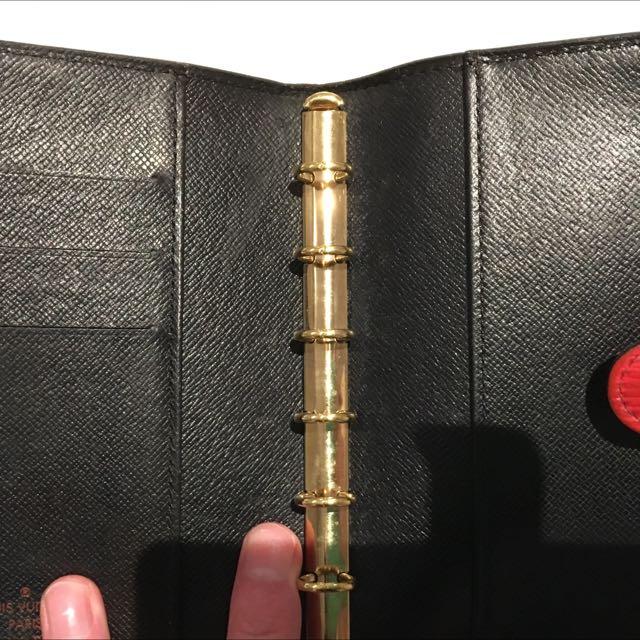 AUTHENTIC Louis Vuitton Epi Agenda Cover PM