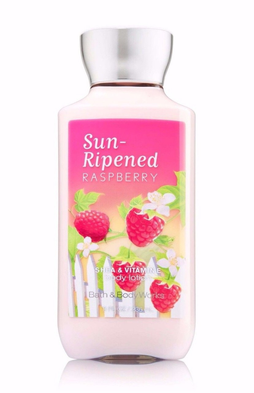 "Bath and Body Works Lotion ""Sun-ripened raspberry"""