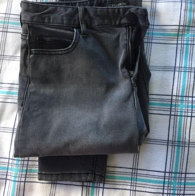 Billabong Size 30 Aust 12 Long Skinny High Rise Pants