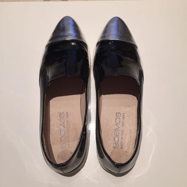 Black Cap Toe Sneakers