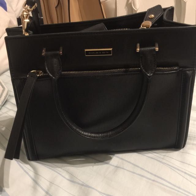 Black Charles And Keith Bag