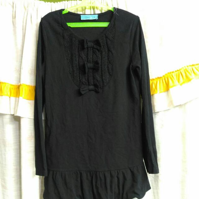 *REPRICED* Black Dress w/tiny ribbons