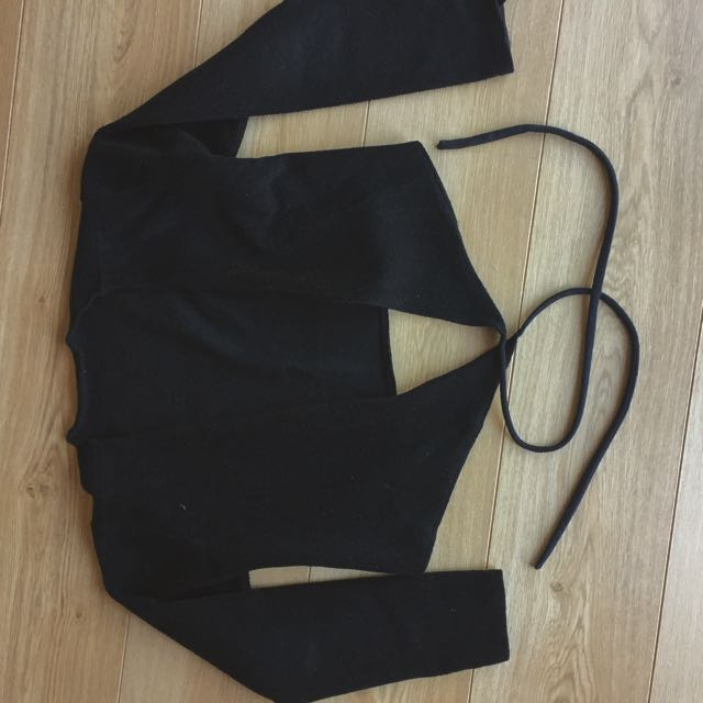 Black Handmade Dance Cardigan #under20