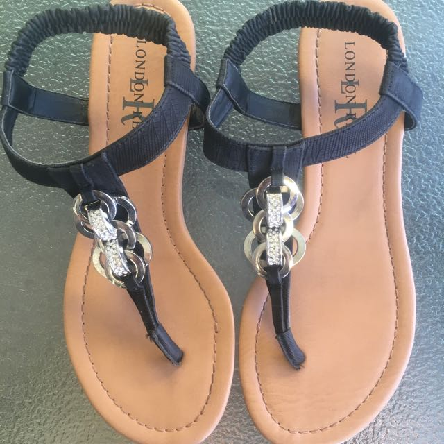 Blacks Embellished Thongs