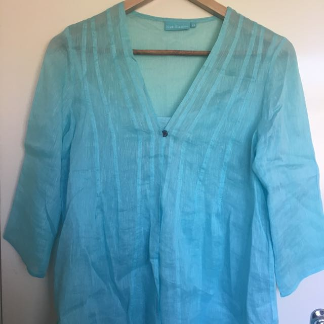 Blue Illusion Blouse