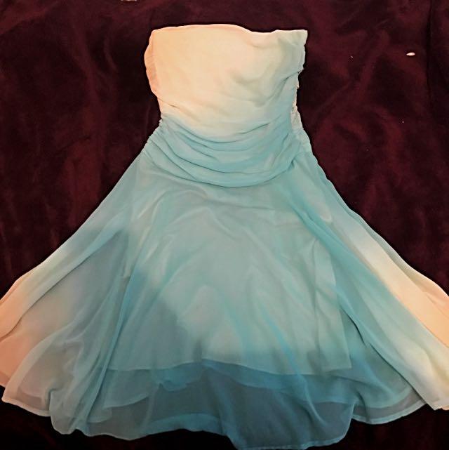 Blue Midi Formal Dress