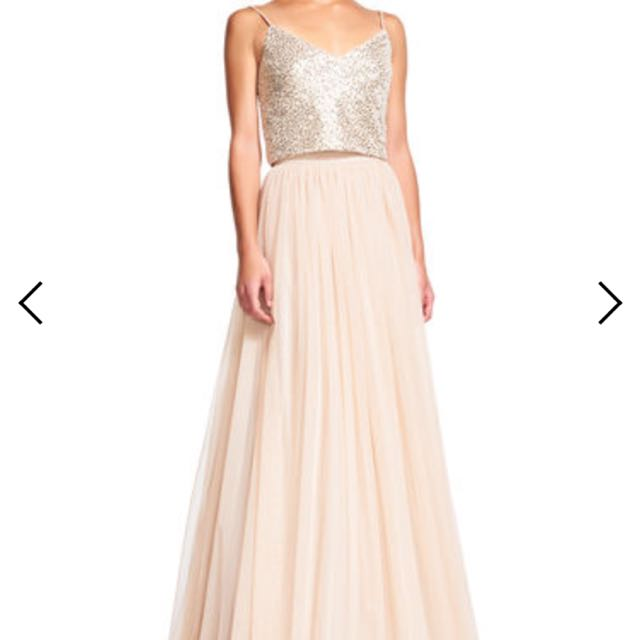 BNWT Adrianna Papell Champagne Coloured Bridesmaid Dress