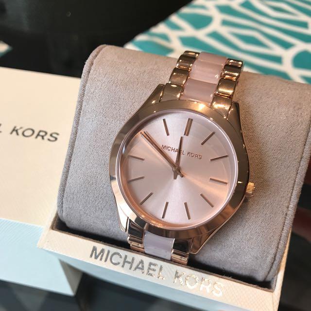Brand New Michael Kors Slim Runway Watch