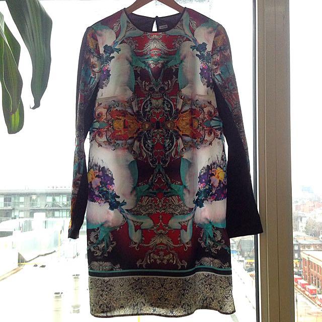 Clover Canyon 3/4 Sleeve Dress- Size Small (fits like a 6)
