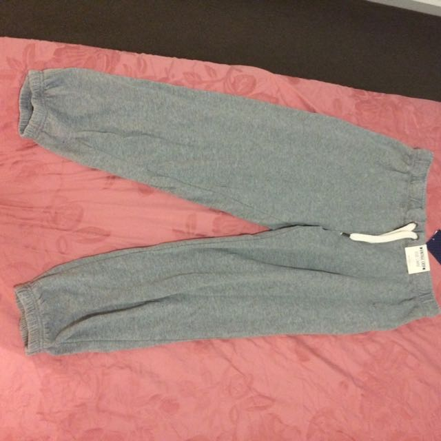 Cotton On - Grey Crop Trackie (L)