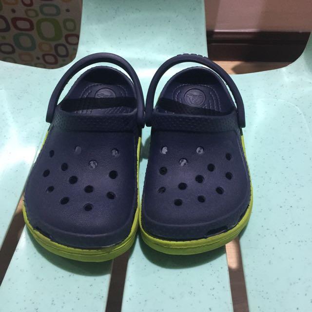 Crocs Duet Sport Clogs Kids Navy/Volt Green