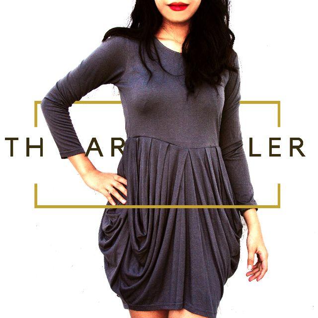 Dark Gray Longsleeve Dress