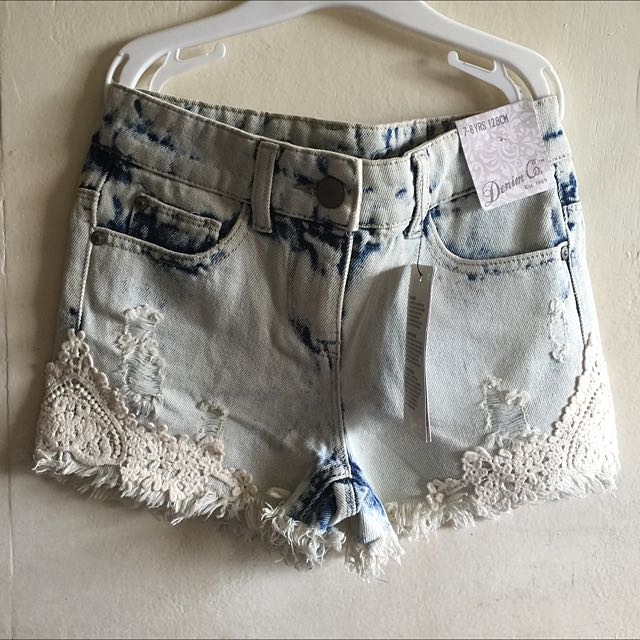 Denim & Co Acid Washed Girls Shorts