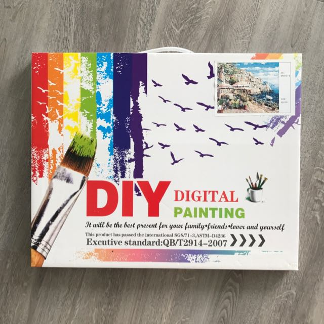 Reserved Diy Digital Painting Paint By Number Design Craft Others On Carousell