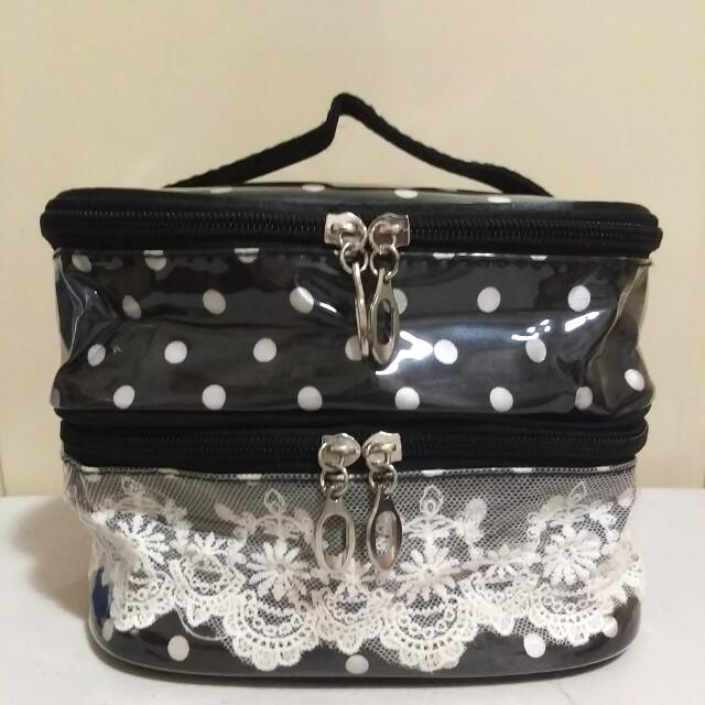 Dotty 2Tiered Make-up Bag
