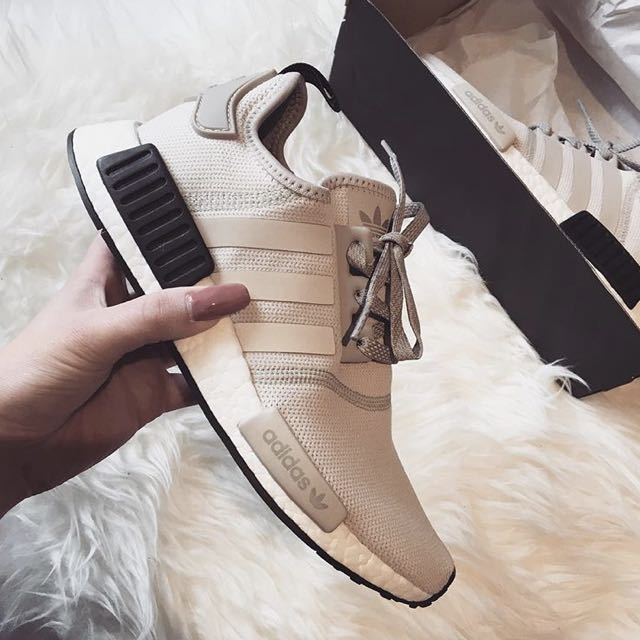 EXCLUSIVE] $275 Adidas NMD R1 Nude Black Tab, Women's
