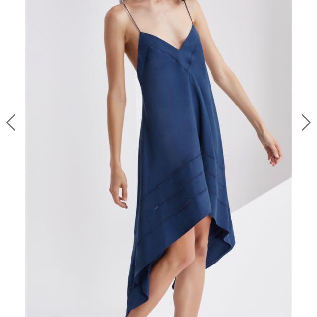 Finders Keepers Pelli Dress In Ink (Navy blue)