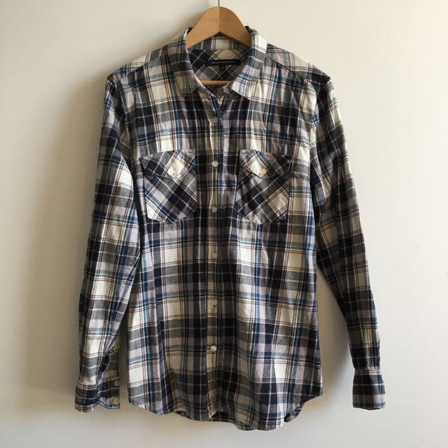 French Connection Flannel Shirt Size 12