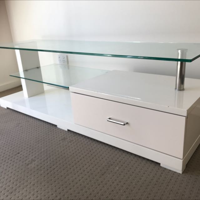 Gl And White Tv Unit From Fantastic Furniture Home On Carou