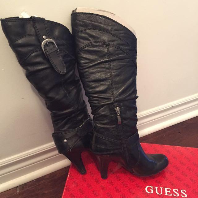 GUESS Black Heel Boots