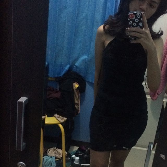 Halter Velvet Dress By H&M
