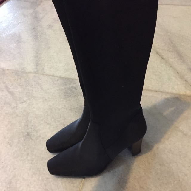 High Knee Black Boots
