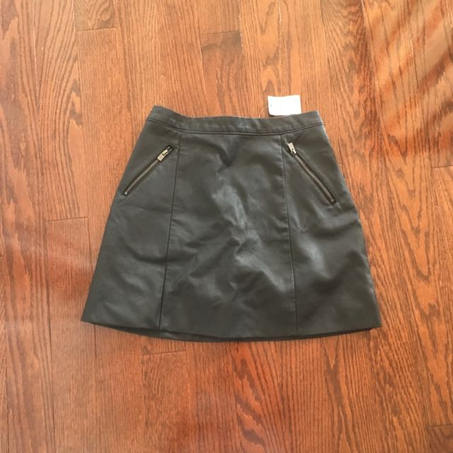 Hollister Faux-Leather Skirt BNWT
