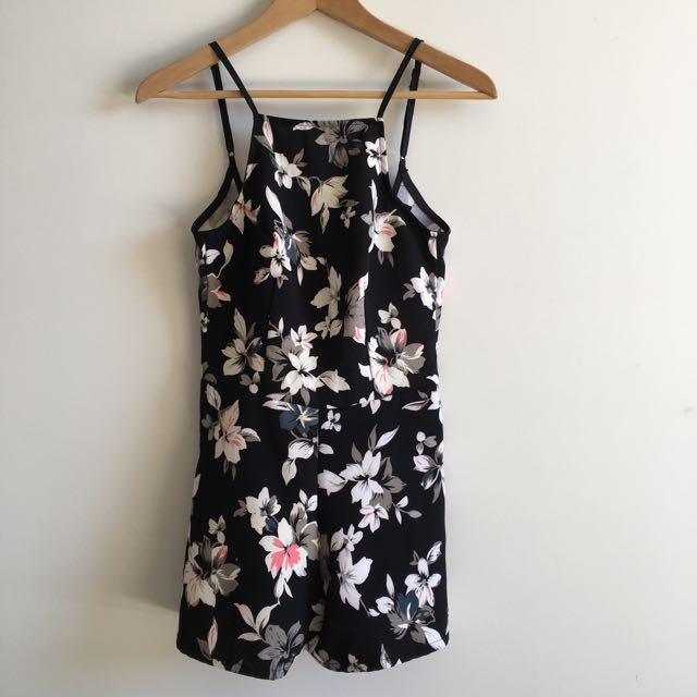 Playsuit Floral Black Size XS ICE