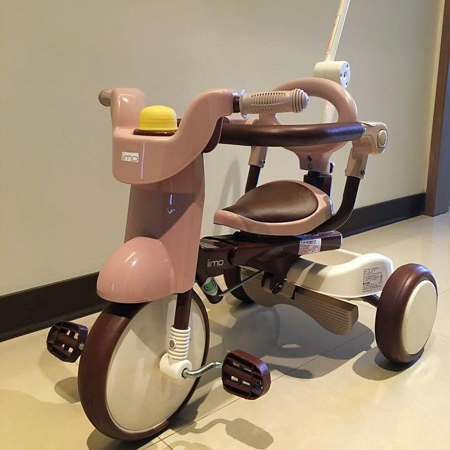 日本iimo 摺疊式兒童三輪車