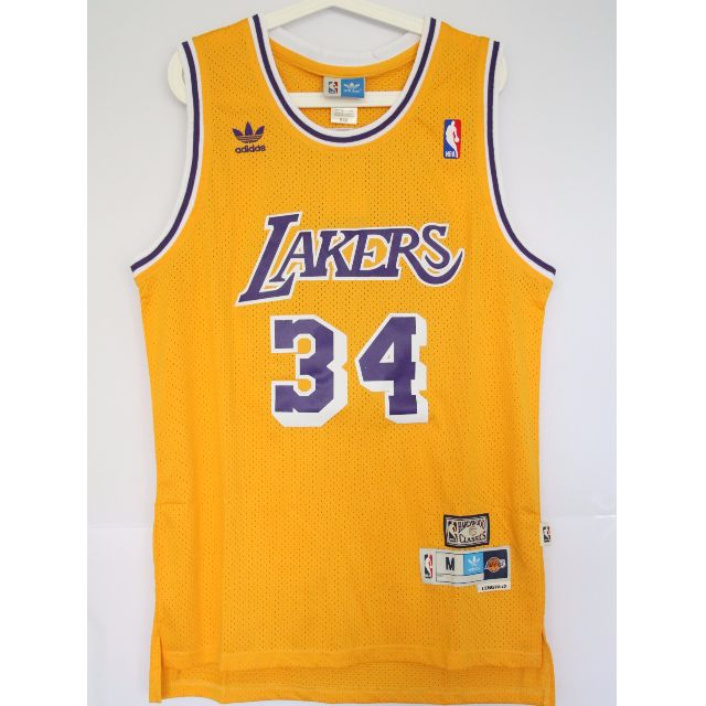 fda4bed31bac NBA Swingman Jersey Shaquille O neal Los Angeles Lakers  34 Yellow Retro  Jersey
