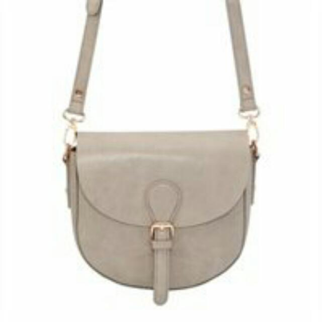 Indigo Grey Saddle Bag