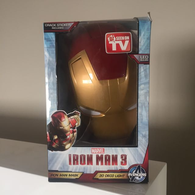 Iron Man 3D Decor Light