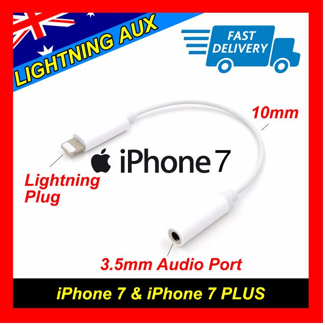 Lightning To Female 3.5mm AUX Audio iPhone 7 Headphone Stereo Extension Cable