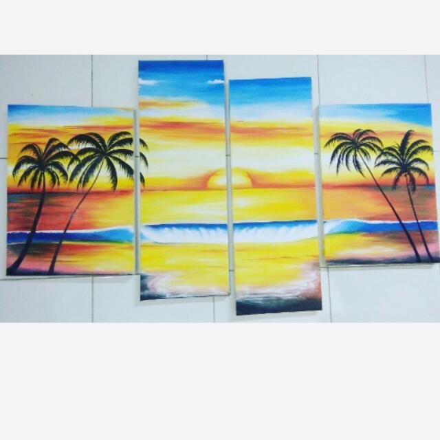 Lukisan Kanvas Stripes